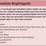 Die Checkliste