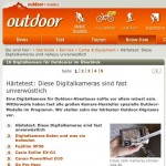 Kamera Test beim Outdoor-Magazin
