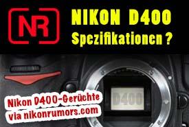 Die Nikon D400 Spezifikationen?