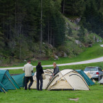 Das Basislager des Bergfreunde-Bloggertreffen